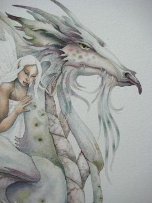 I used salt in this dragons wings and breast plate.