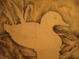 swan wings drawing