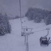 Skiroute unterhalb Versettla II Bahn