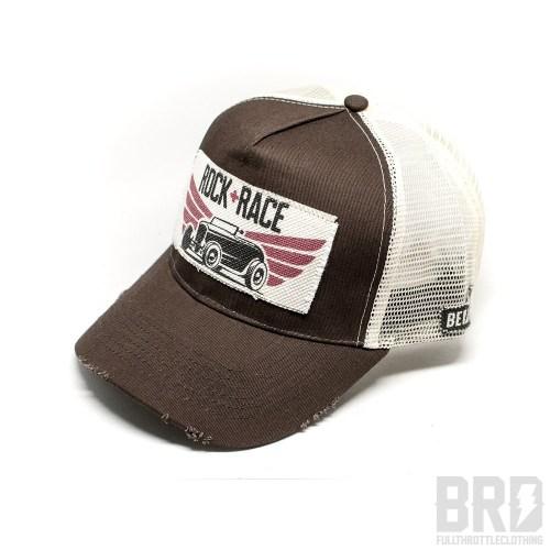 Cappellino Vintage Trucker Cap Rock Race Marrone