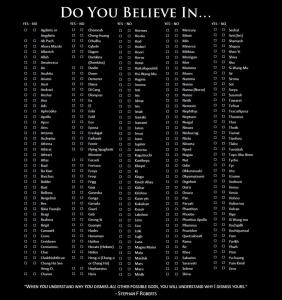 Which god do you believe in?