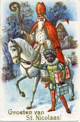 Early depiction of Sinterklaas and Zwarte Piet