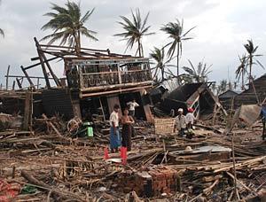 devastation in Burma
