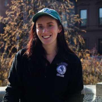 Senior Erin Jean Hussey runs for a reason