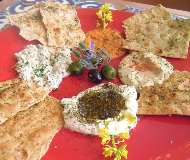 Zatar's mezza sampler. Photo: Anna Mindess