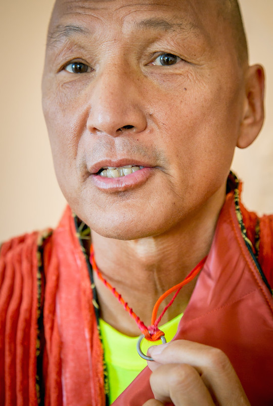 Eugene Tssui, wearing a ring given him by a Mongolian shaman. Photo: John Storey