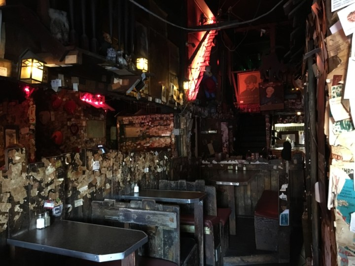 """The Alley, a self-described """"ramshackle roadhouse"""" has an interior designed to look like a real alley."""