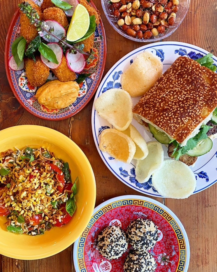 Vegan Singaporean-Chinese fare from Lion Dance Cafe in Oakland. Photo: Lion Dance Cafe