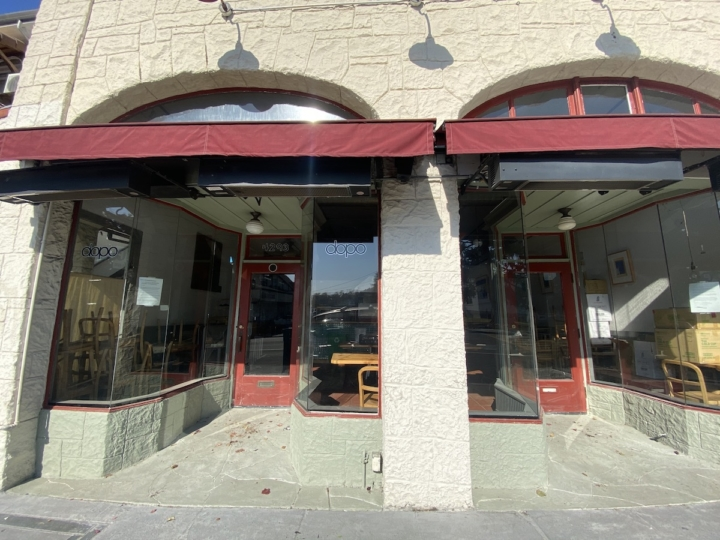 Dopo on Piedmont Avenue, one of the closed East Bay restaurants in October 2020.