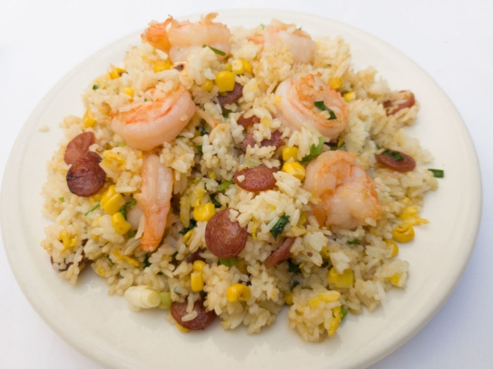 Lop Chong Fried Rice with Chinese sausage and shrimp from Bamboo in Oakland. Photo: Bamboo