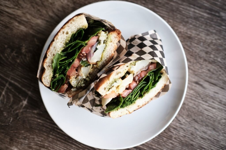 Roasted cauliflower sandwich from Oaklandia Cafe. Photo: Pete Rosos