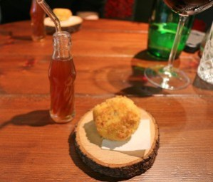 Act II - Los Snacks Ham-On (a pun!) Croqueta de jamon y su consome