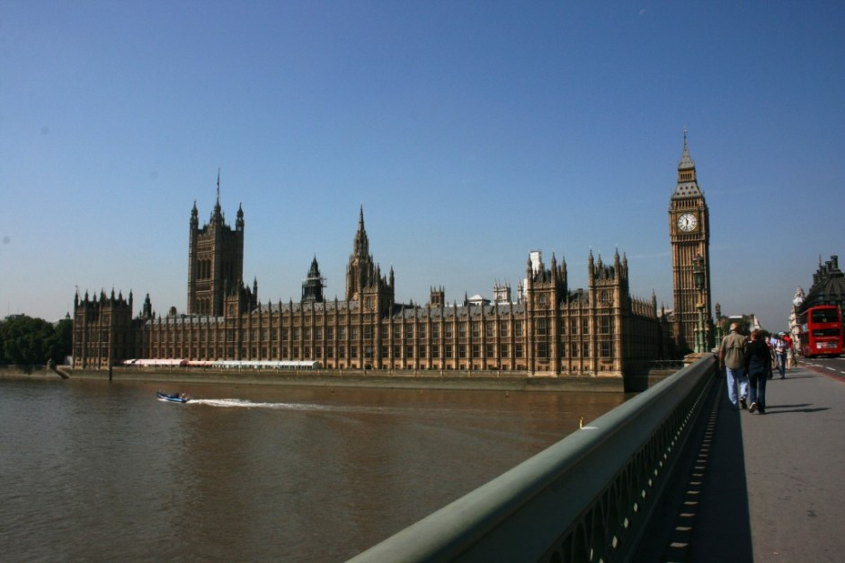 The Palace of Westminster, which is where the House of Commons meets.