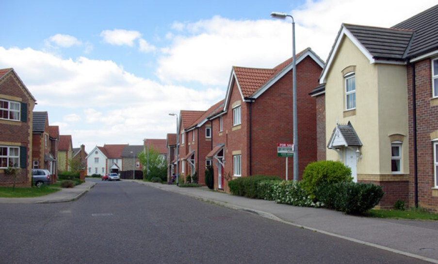 A new development Braintree, Essex. A prime example of modern housing lacking a sense of place.