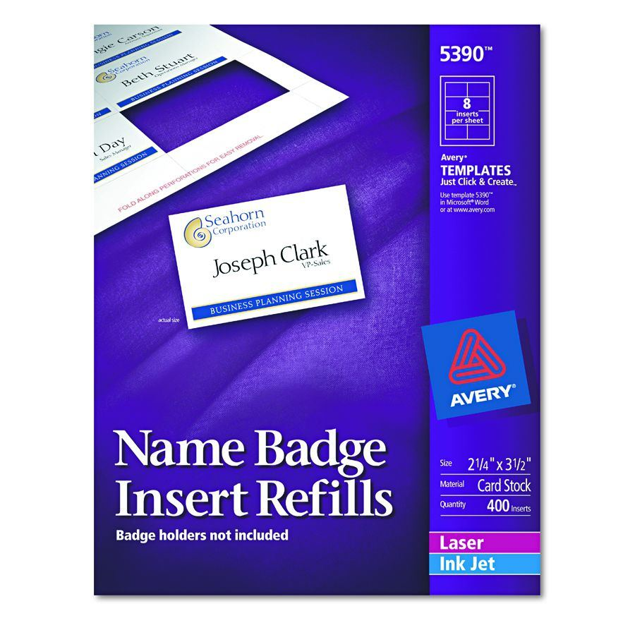 Name Badge Template - Avery 3x4 name badge template