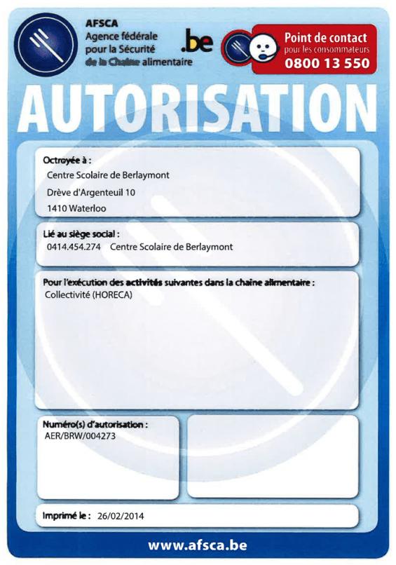 AFSCA - Berlaymont