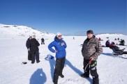 Håkon Larsen og Torbjørn Sund fra Båtsfjord hadde også funnet veien til Kobbkroken