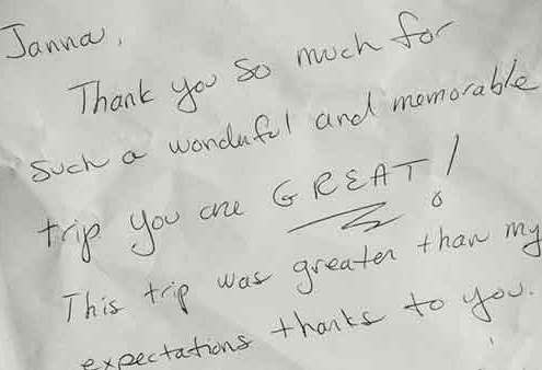 Janna's Gaestebuch - guestbook feedback for Berlin tours