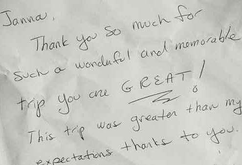 Janna's Gaestebuch - guestbook feedback for Berlin tours