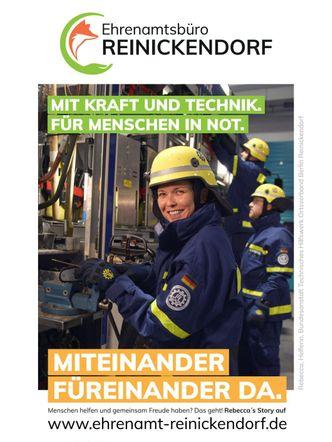 Vergrößerung: Reinickendorfer werben für ehrenamtliches Engagement