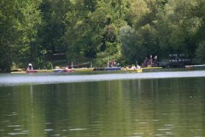Ruderbootsverleih am Weissen See