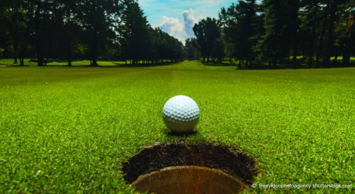 Indoor Golf bei Kim Screen Golf