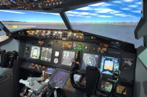 Bild-Cockpit-Flugzeug