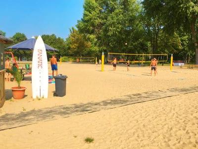 Bild Beachvolleyball am See