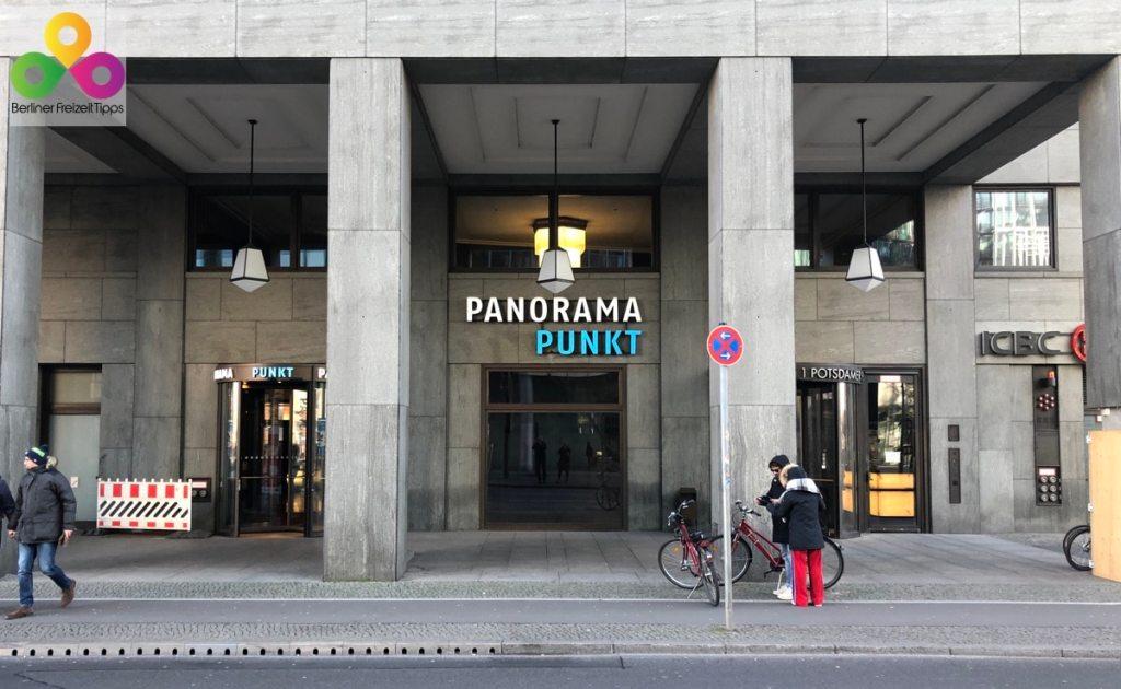Bild Eingang Panoramapunkt Kollhoff Tower Potsdamer Platz Berlin