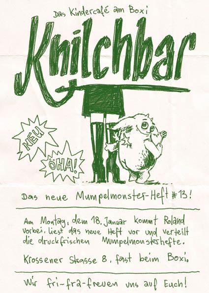 Mumpelmonster-Montag in der Knilchbar