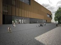 Bezirkszentralbibliothek Berlin Friedrichshain Außenansicht