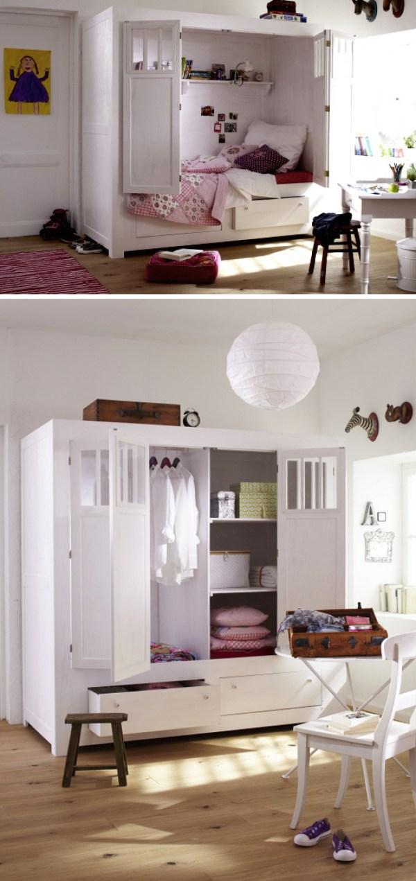 Außergewöhnliches Schrankbett fürs Kinderzimmer
