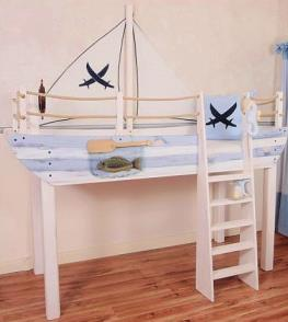 abenteuerbetten schiff ahoi im kinderhochbett. Black Bedroom Furniture Sets. Home Design Ideas