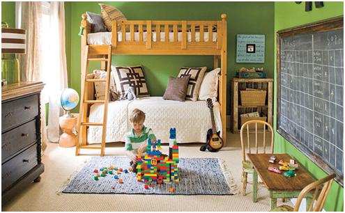 Es Muss Nicht Die Ganze Wand Sein: Eine Große Tafel Im Kinderzimmer
