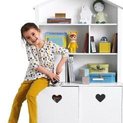 Regal in Puppenhausform in Weiß von Vertbaudet