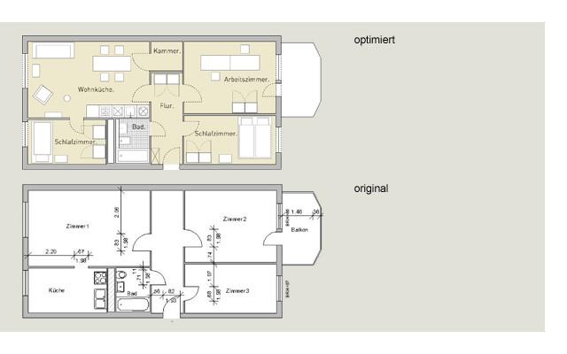 Wohnen in der Platte: Grundriss