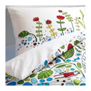 Textilien aus der EIVOR Kollektion von IKEA: EIVOR LEVA Bettwäsche