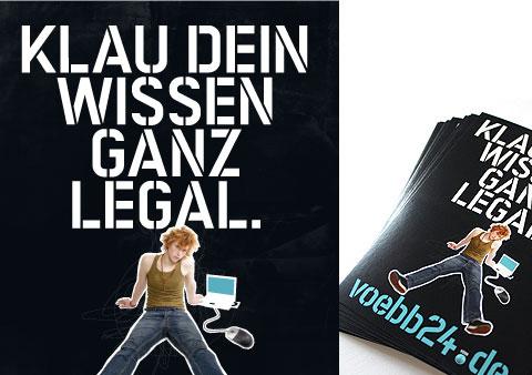 Voebb24: Klau dein Wissen ganz legal (Grafik: Maik Brummundt , http://www.maikbrummundt.de/)