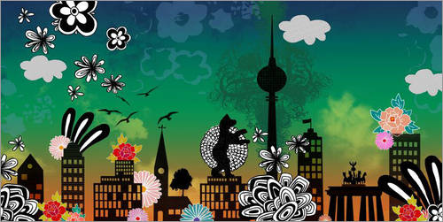 "Berlin-Poster ""berlinomat"" von Elisandra"