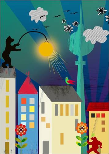 """Poster """"Good Morning Berlin"""" von Elisandra"""
