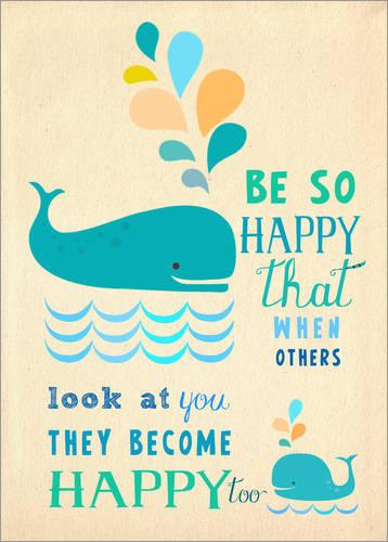 """Kinderzimmer Poster """"So glücklich sein"""" von Elisandra"""