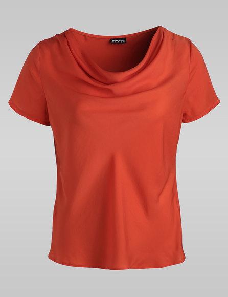 Bluse mit Wasserfallkragen, Farbe: Orange (gefunden bei Gerry Weber Blusen unter http://www.house-of-gerryweber.de/Blusen/gerry-collection-bluse,de,sc.html)