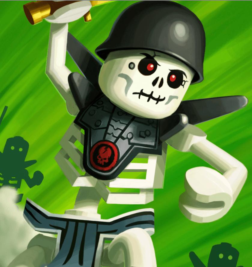 Kostümwunsch für Halloween: Skelett-Ninjago Chopov