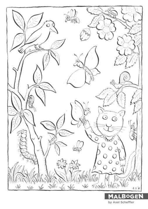 Illustrator Axel Scheffler für den Malbogen (Bild von http://www.malbogen.blogspot.de)