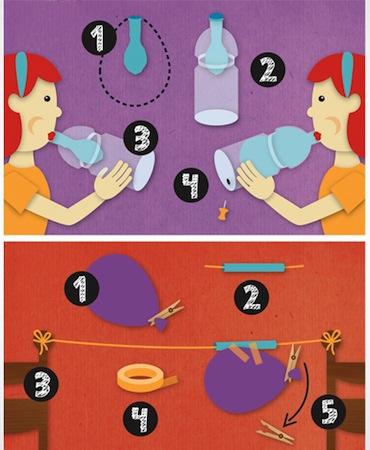 Experimente für Kinder, Illustration von Dana Dublin