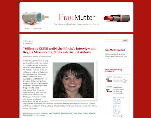 Gefunden als Mama Blog Berlin: Frau Mutter