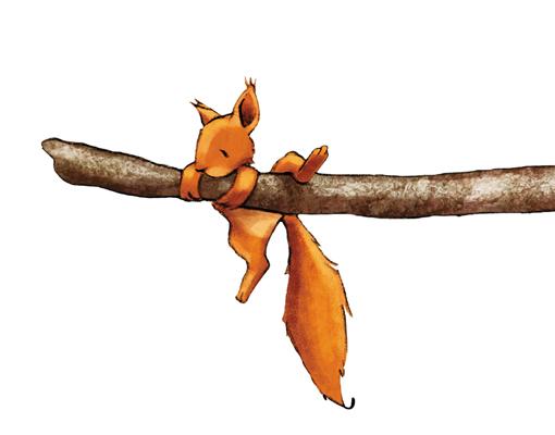 Wandtattoo Eichhörnchen als Wanddekoration fürs Kinderzimmer. Mehr Ideen fürs Kinderzimmer bei @BerlinFreckles
