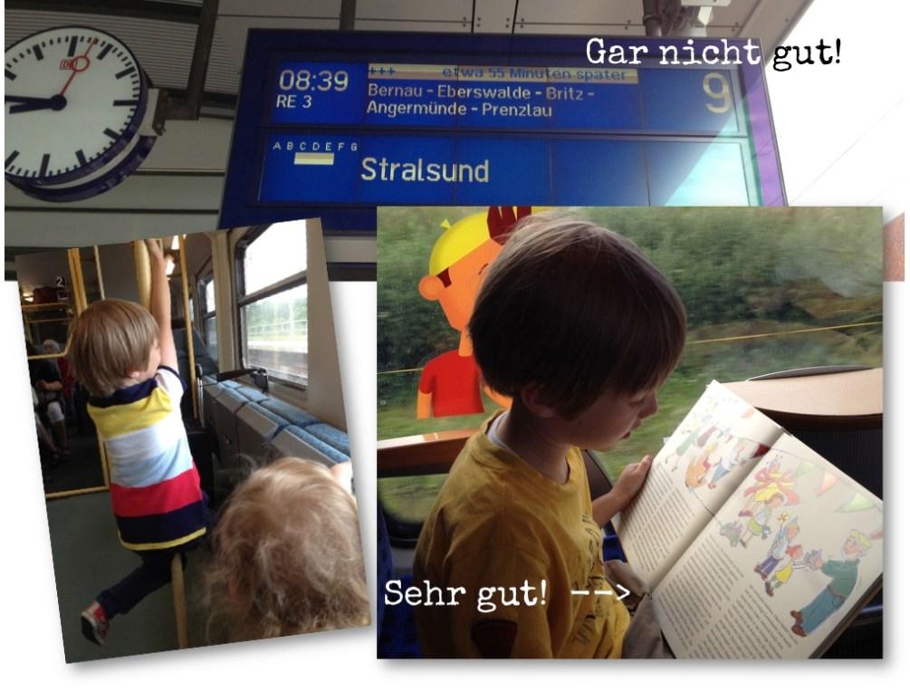 Bahnreise mit Kindern, Tücken und einem guten Buch