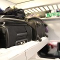 Auch das Gepäck bekam sein eigenes Bett.