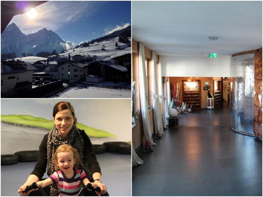 Leading Family Hotel & Resort Alpenrose: Blick aus dem Zimmer, Hotelflur und Mädels beim Go Kart